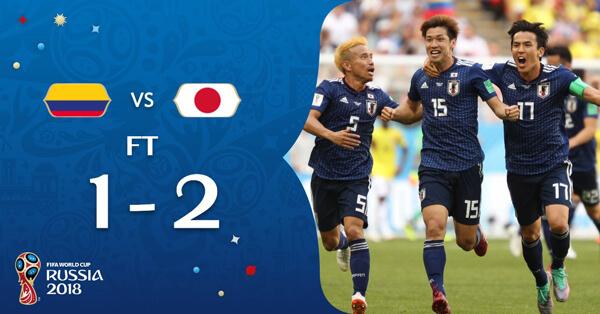 「日本対コロンビア」の画像検索結果